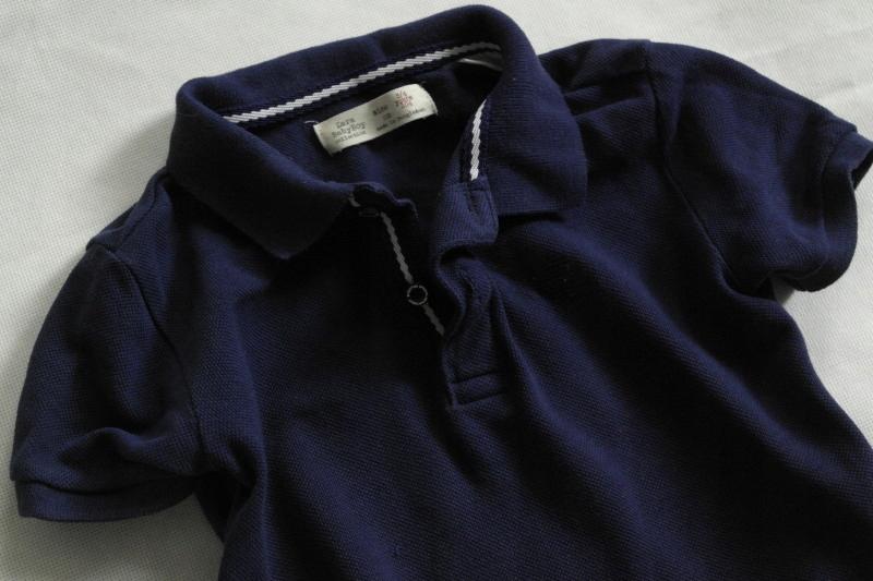 ZARA klasyczna granatowa koszulka polo 104