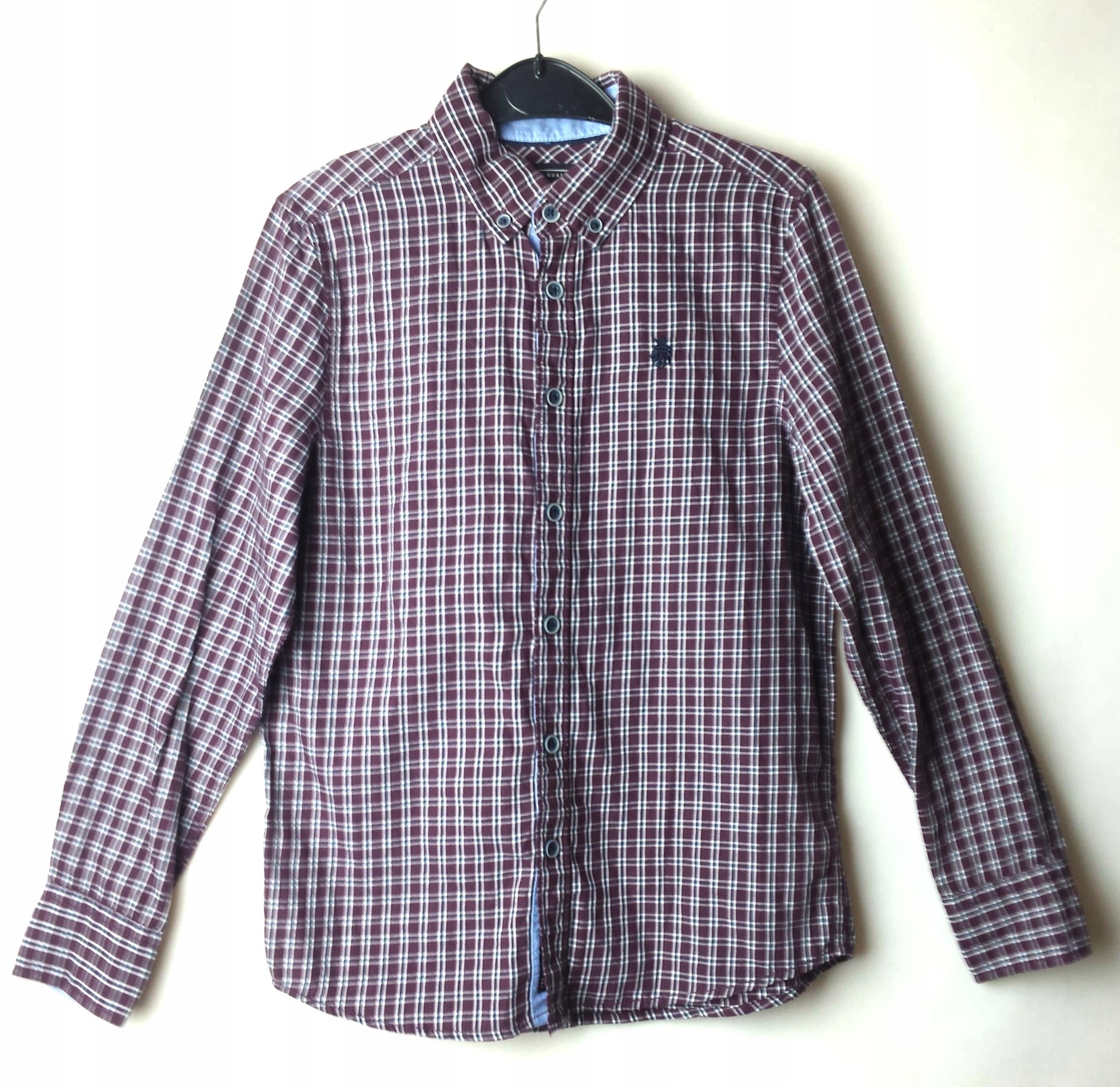 Dunnes XS S koszula w kratę czarna szara krata w Koszule