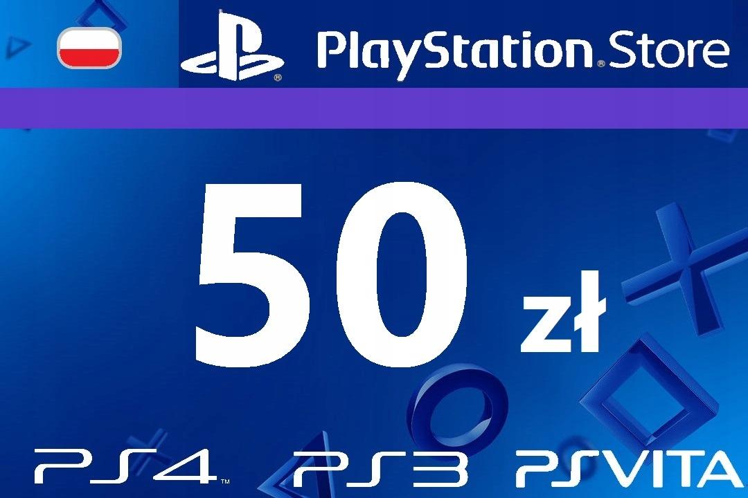 PlayStation 50 zł PSN Network Store Kod PS4 PS3