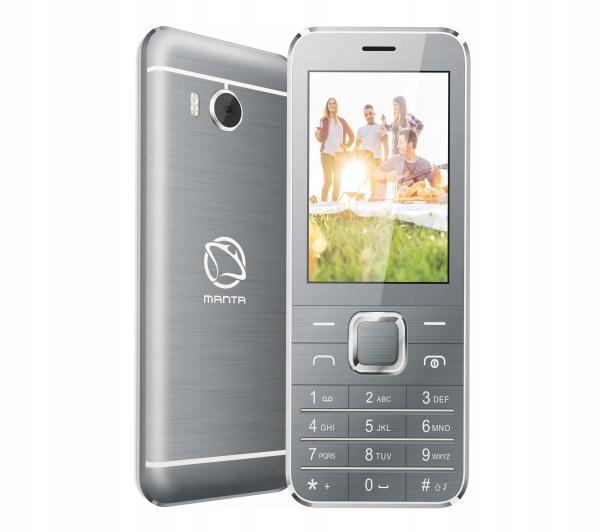 Telefon komórkowy Manta TEL2801GR AVO8 SZARY