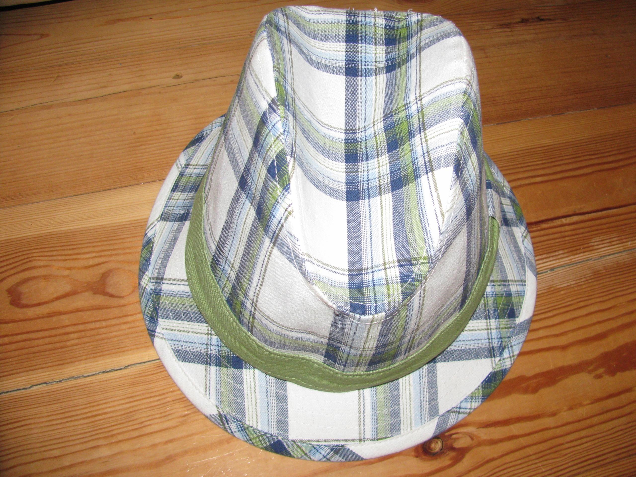 H&M bawełniany KAPELUSZ w kratkę, roz.M