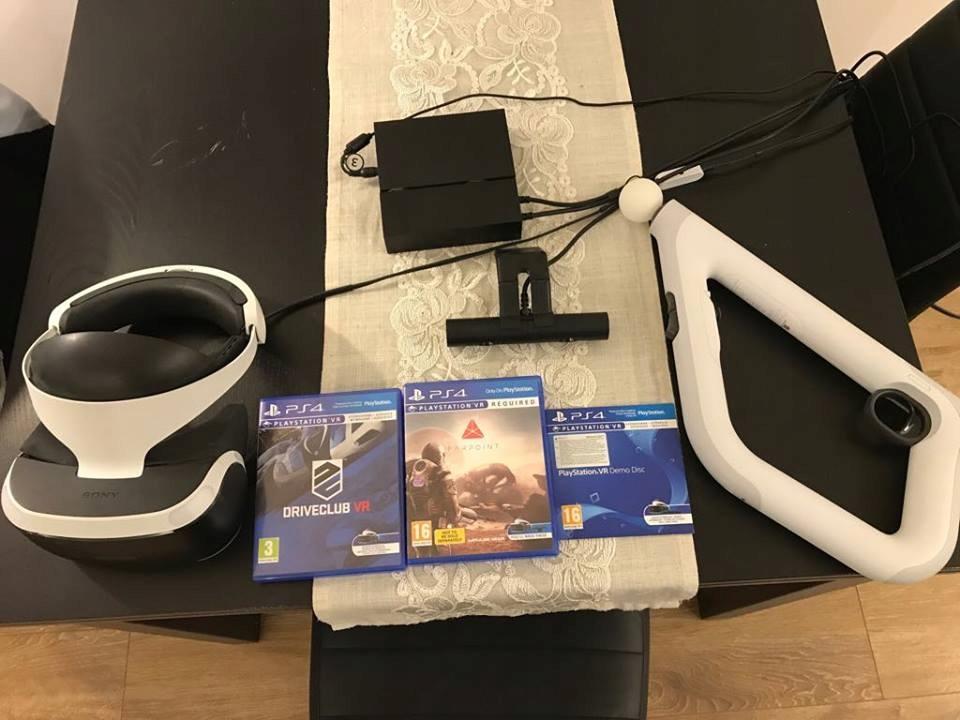 Playstation VR +-kamera + DRIVECLUB VR!