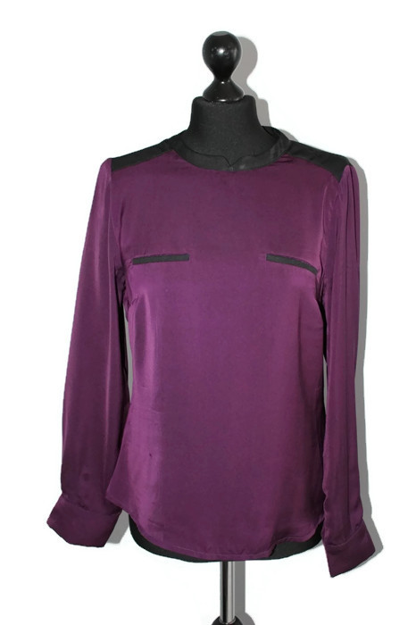 d263 Fiolet satynowa bluzka S 36