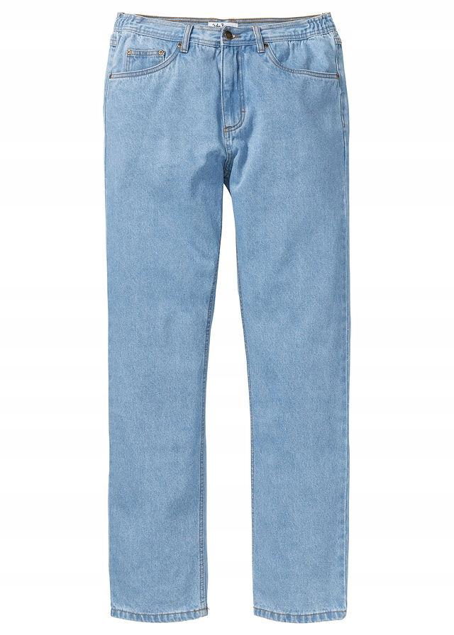 Dżinsy z elastycznymi wstawka niebieski 66 946419