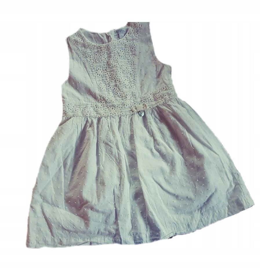 MININIO cudna sukienka ażurkowa 110 cm 4-5 lat