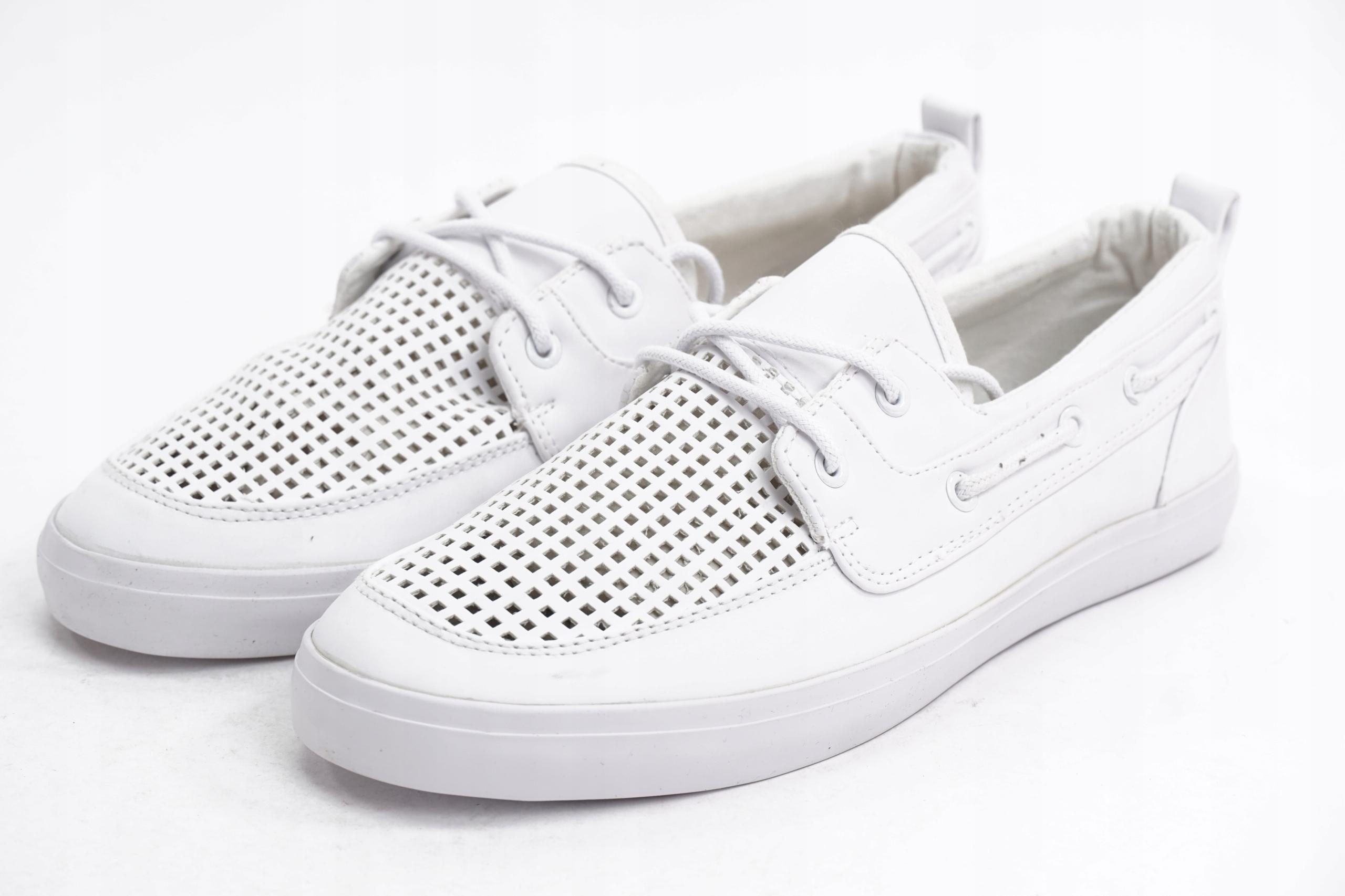 ASOS buty żeglarskie mokasyny białe 42 F4 10
