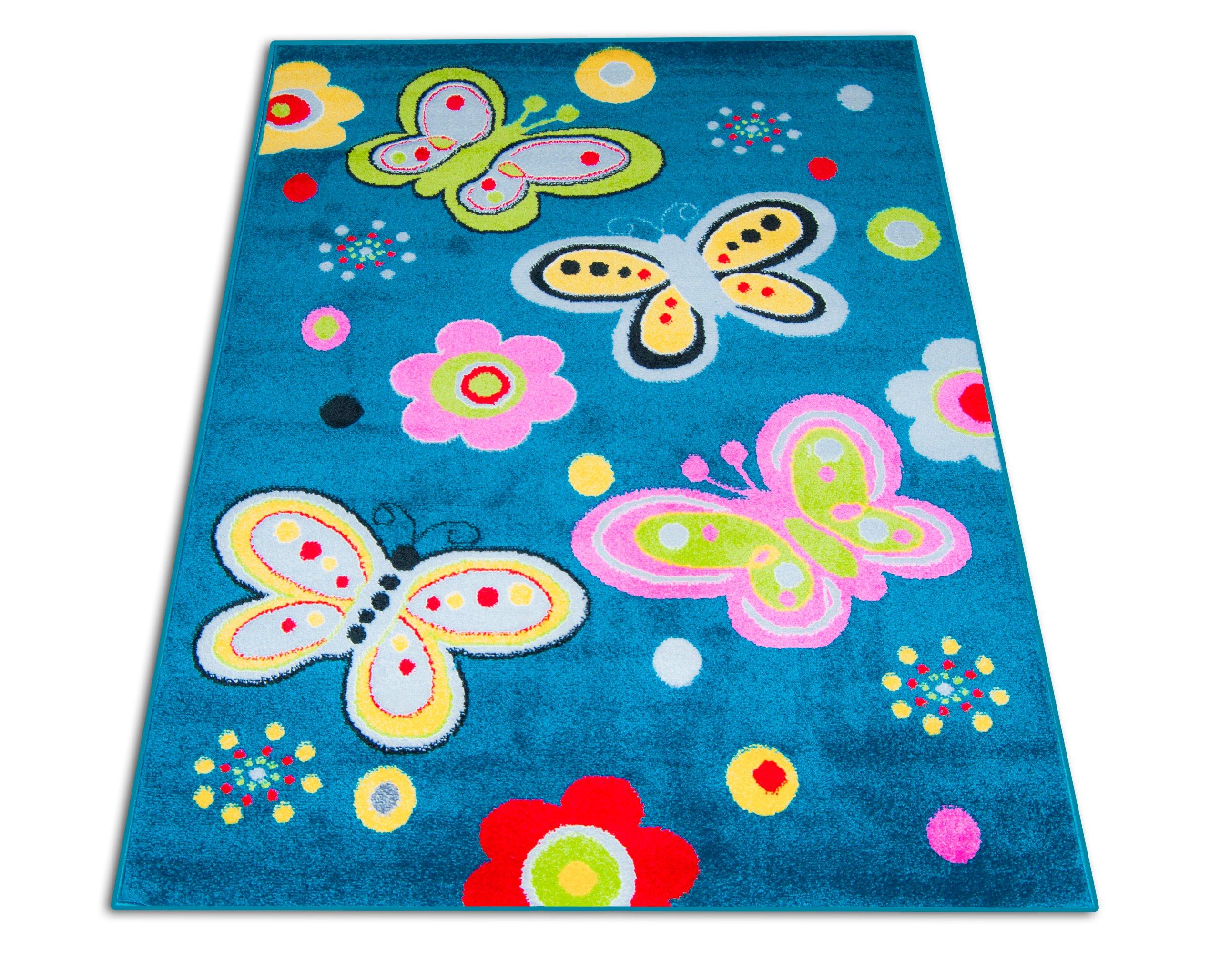 Dywan Dziecięcy Motylki 120x170 Tanie Dywany Kids