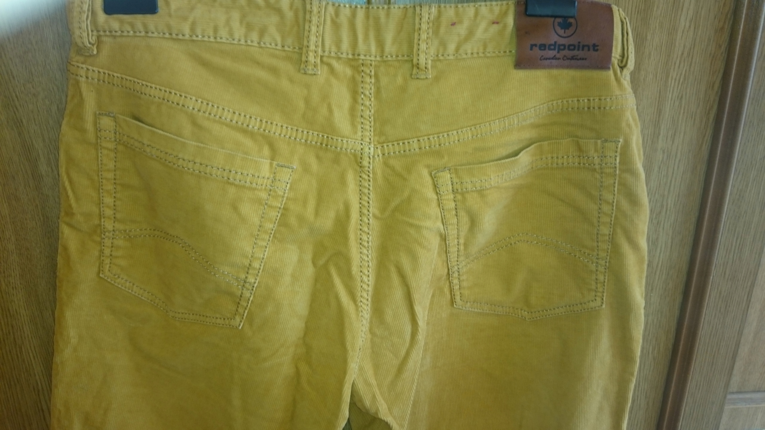 Spodnie sztruks żółte sztruksy Redpoint W36 L30