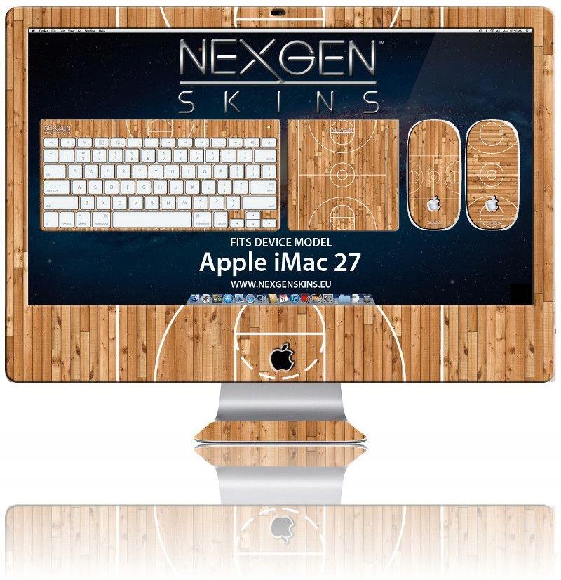 Skórki na obudowę efekt 3D iMac 27' Hardwood Class