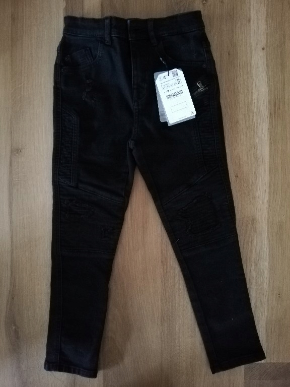 Spodnie czarne jeansy Zara Boy r. 122