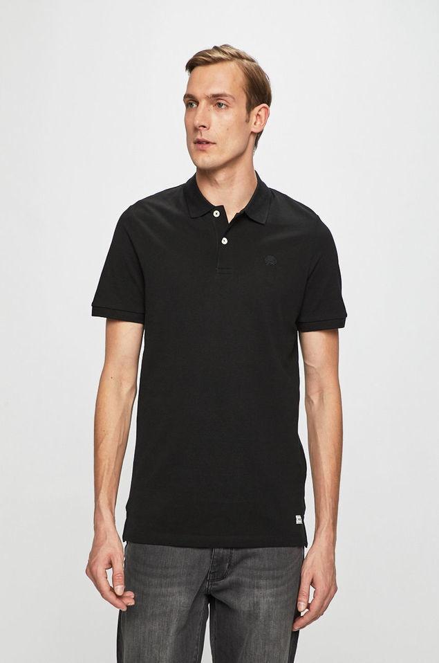 B37 JACK AND JONES t-shirt polo czarny r. L