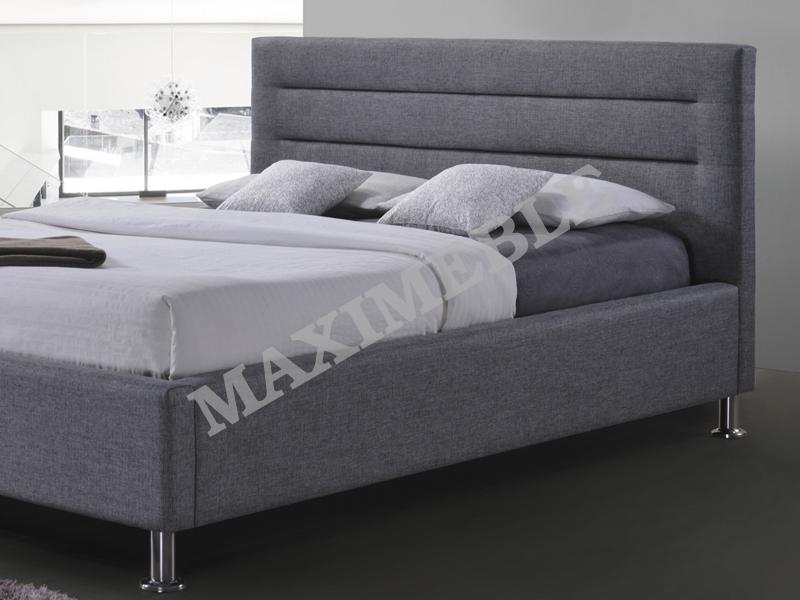 łóżko Tapicerowane Liden 160x200 Szare Signal 7467208329