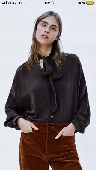 Zara Woman bluzka oversize jedwab jedwabna 38 M 40