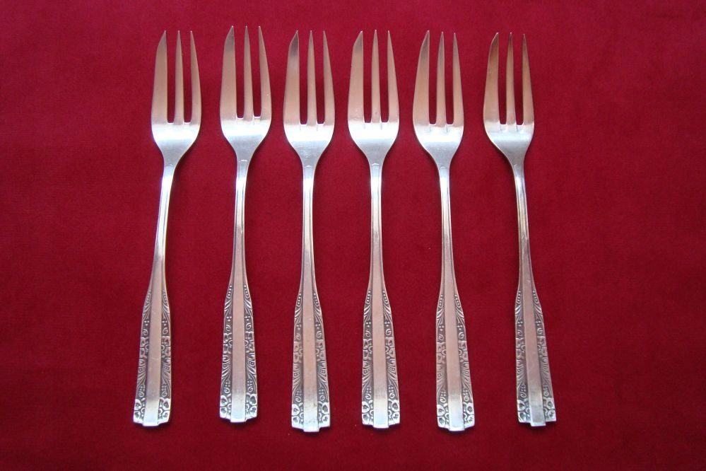 widelczyki deserowe Hefra wzór wschodni srebro 800