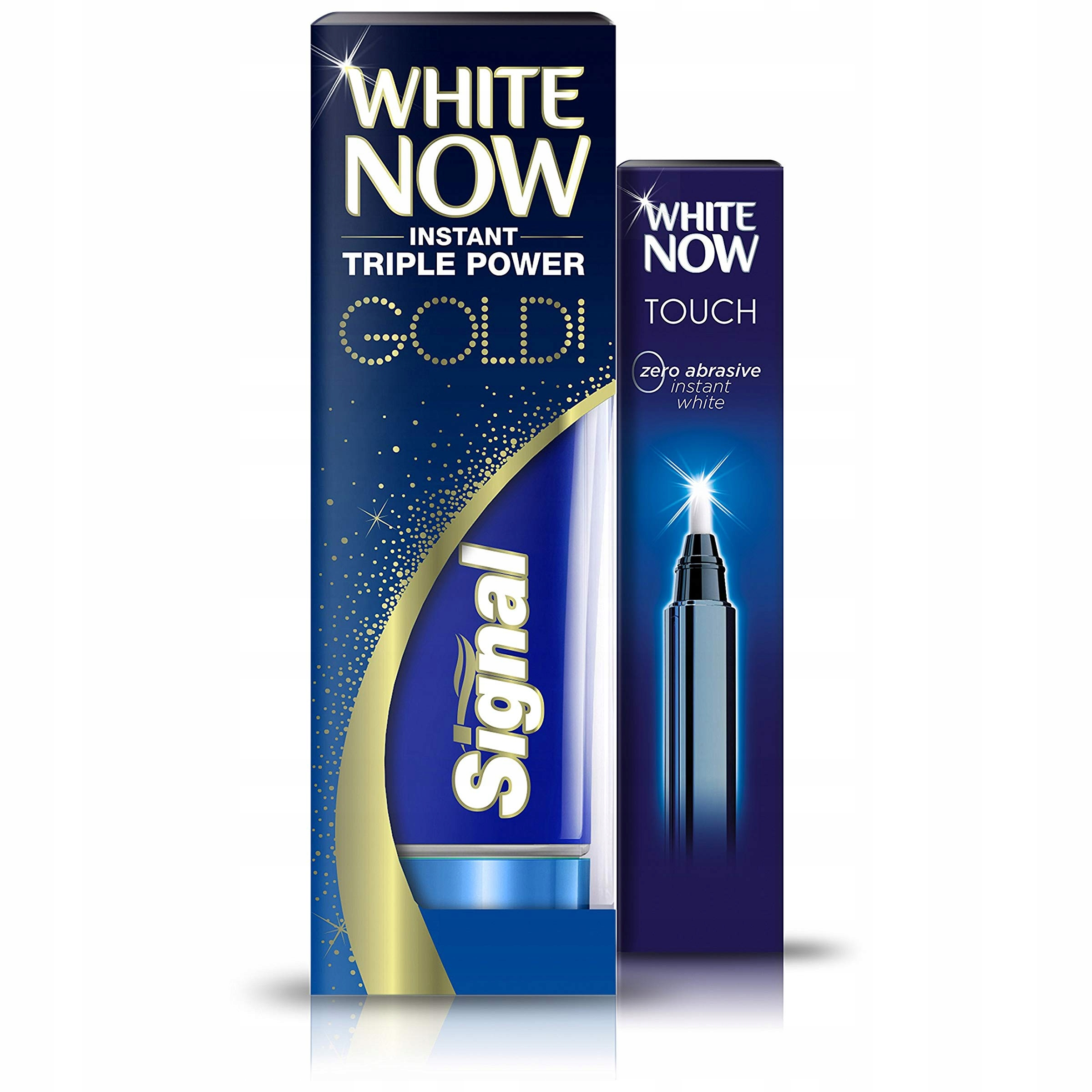 White Now Touch Whitening Pen i Gold Toothpaste