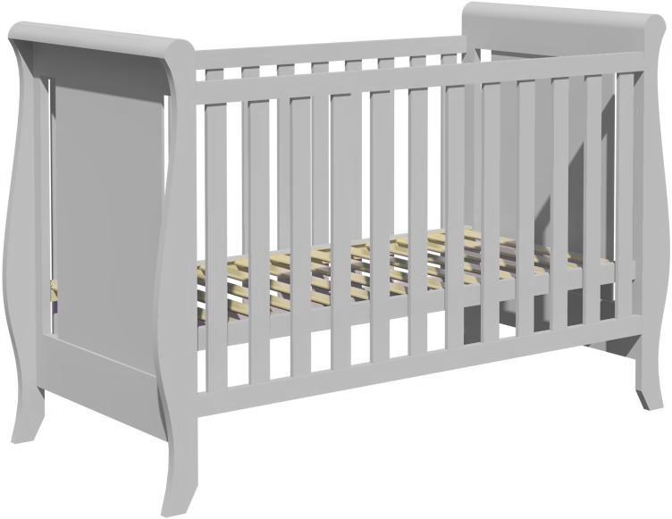 Łóżeczko dziecięce MISZA 120x60cm szare