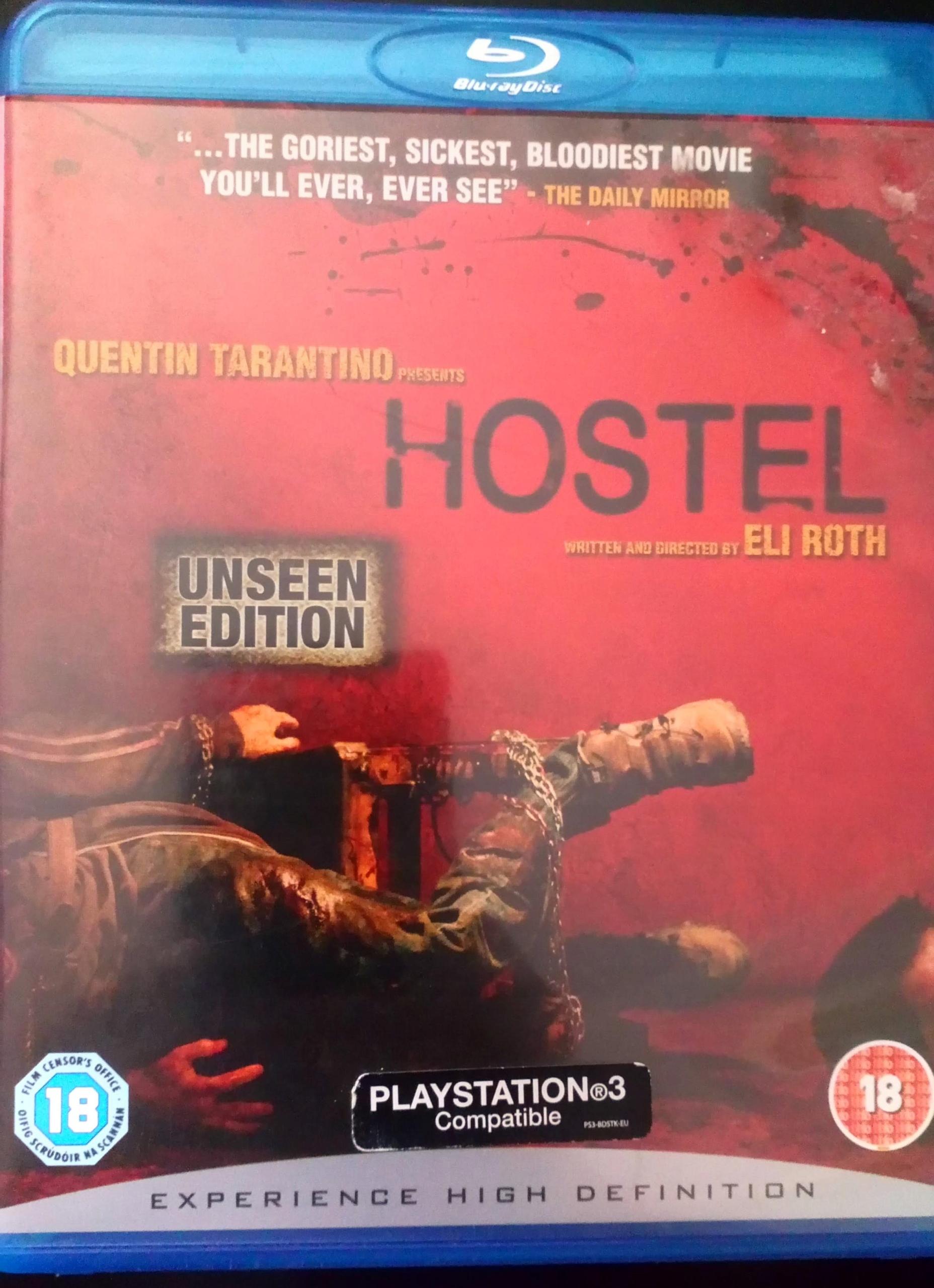 HOSTEL FILM BLU RAY HORROR WYDANIE NIEOCENZUROWANE