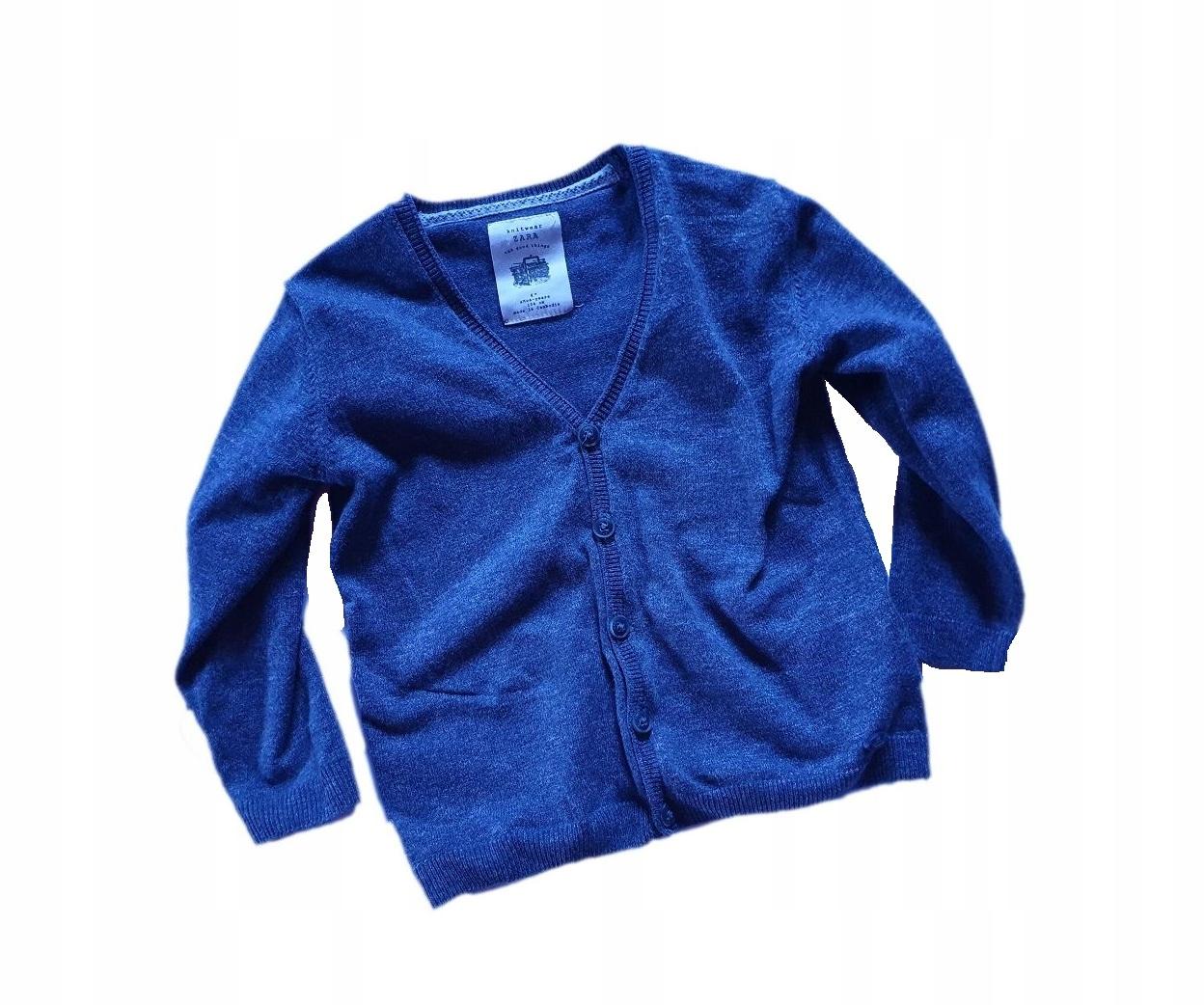 ZARA wiosenny sweterek na guziki 104 cm