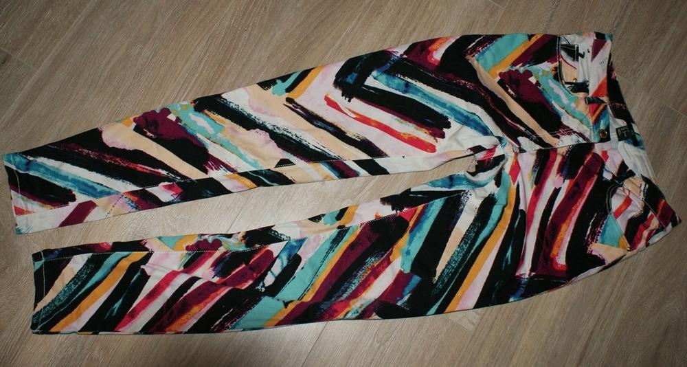 H&M _ kolorowe rurki skinny jeans _ 34/xs