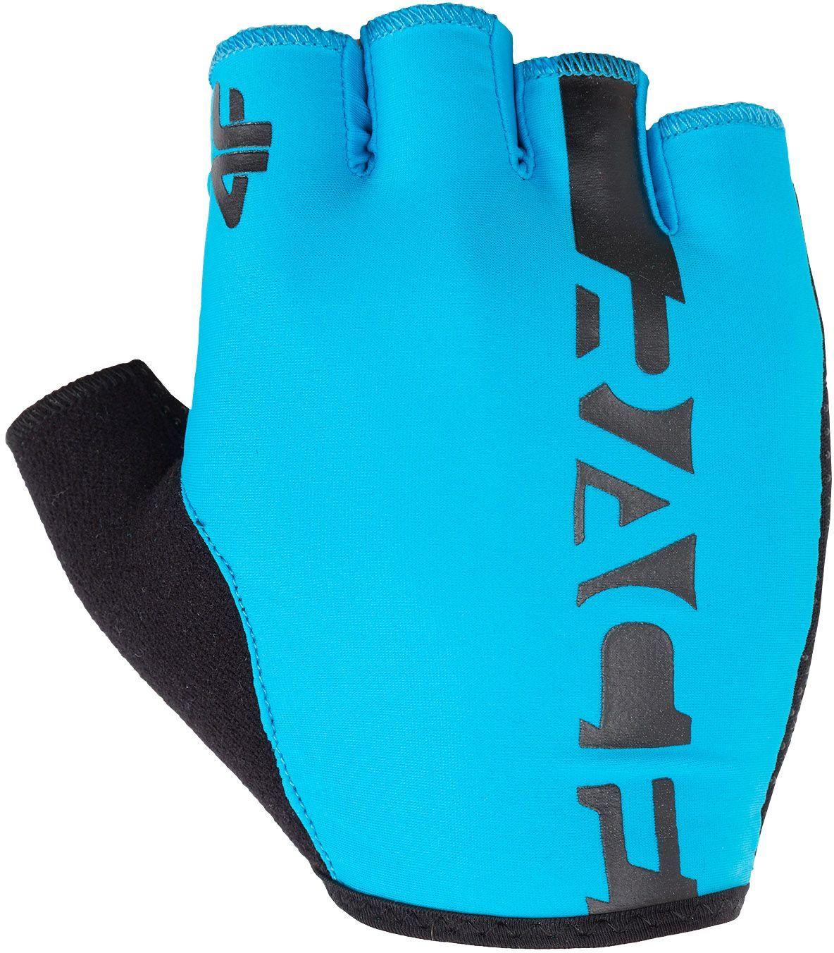 4f Rękawiczki rowerowe H4L18-RRU005 niebieskie r.