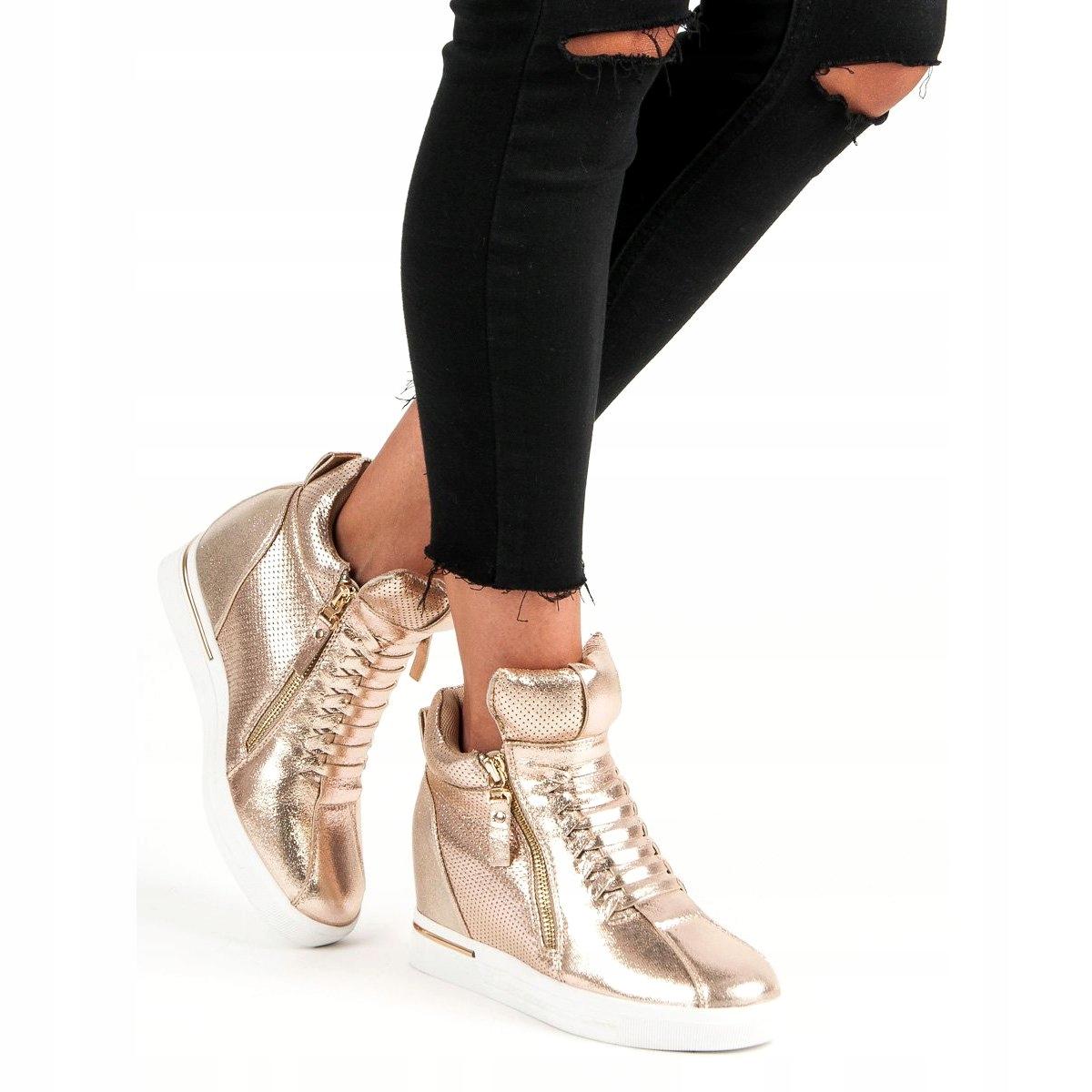 Złote Sneakersy r.37 7722304006 oficjalne archiwum allegro