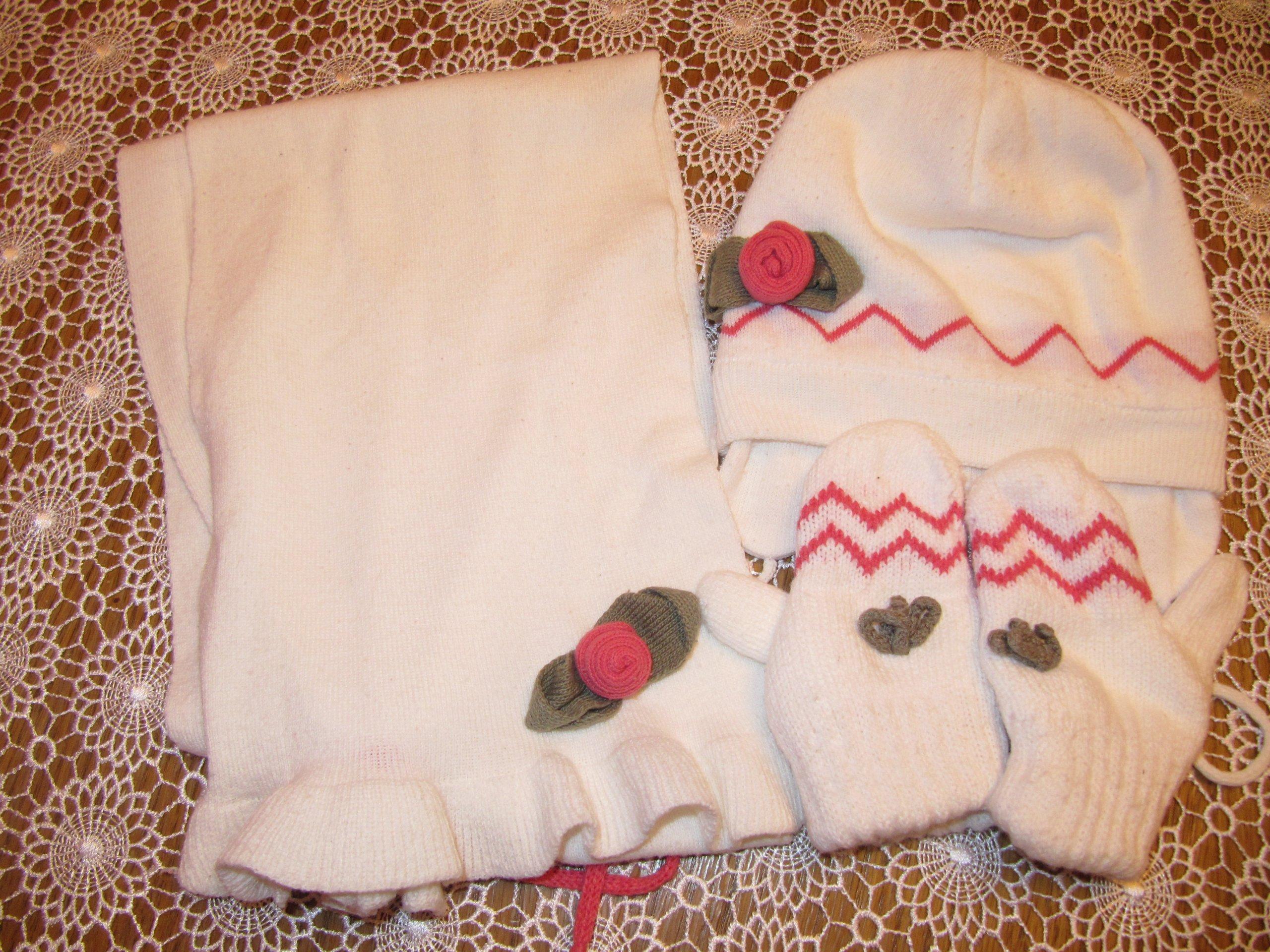 Czapka+szal+rękawiczki WÓJCIK