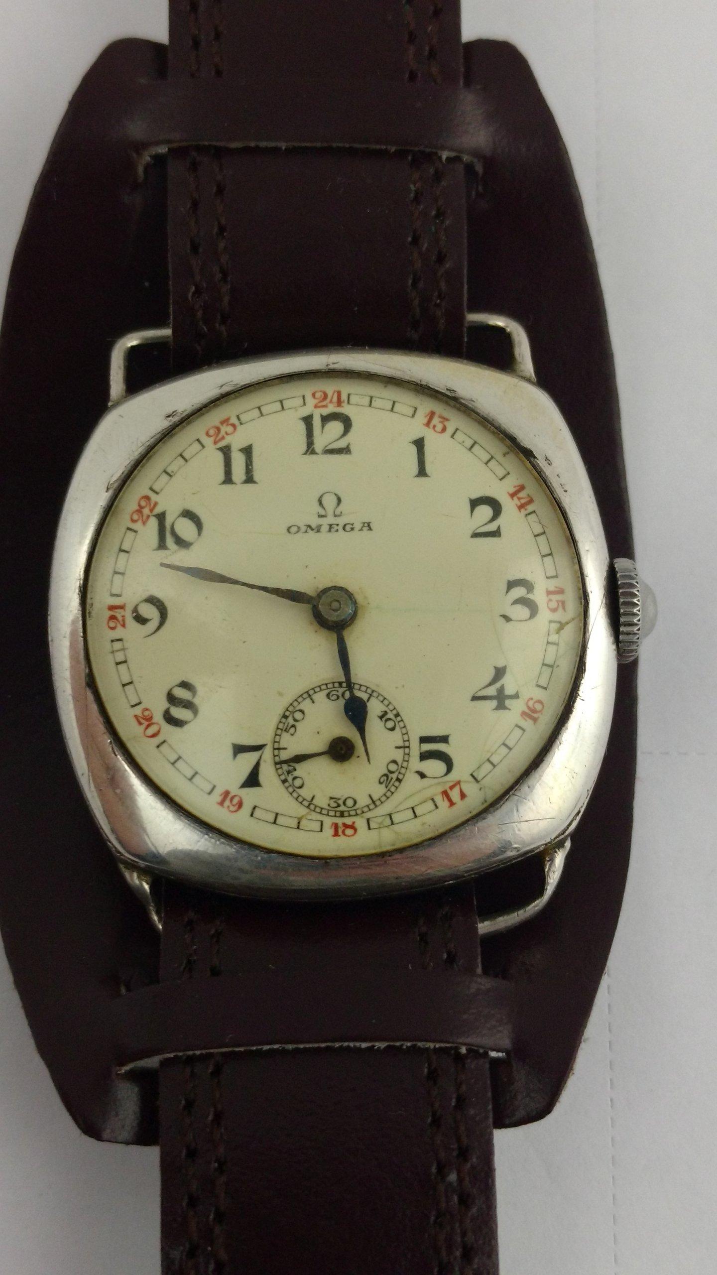 SREBRNA OMEGA zegarek Vintage UNIKAT