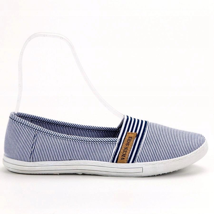 Białe Niebieskie Tekstylne Buty Vices r.37