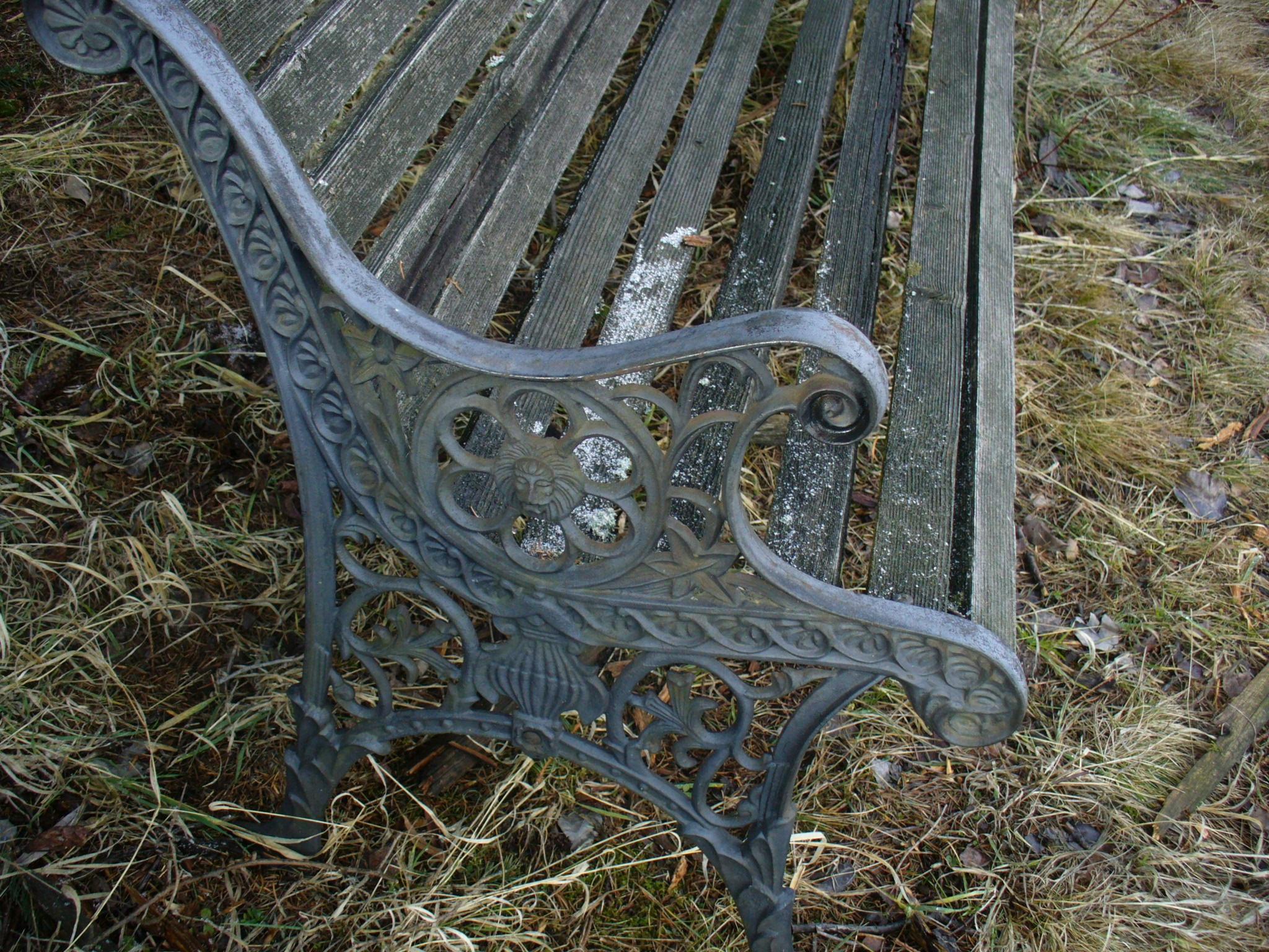 Stara ławka żeliwna,nogi