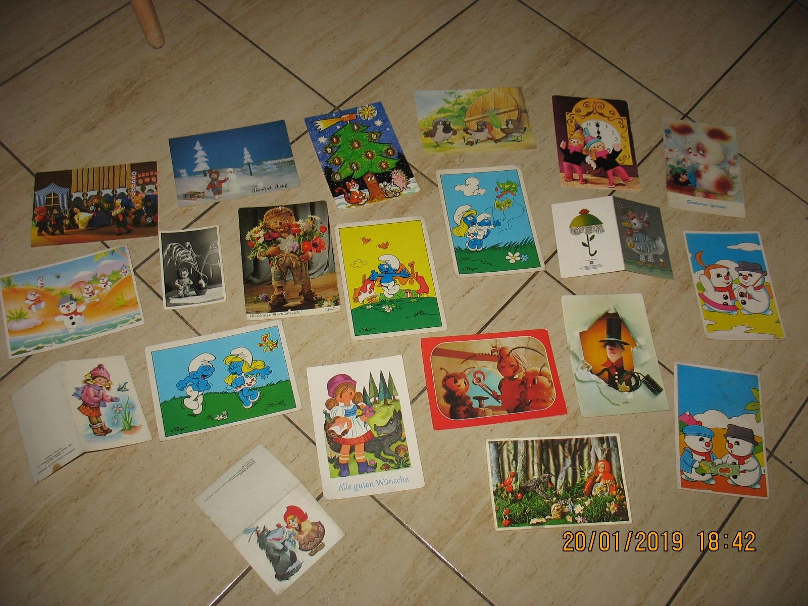 BAJKI PRL pocztówki Zestaw
