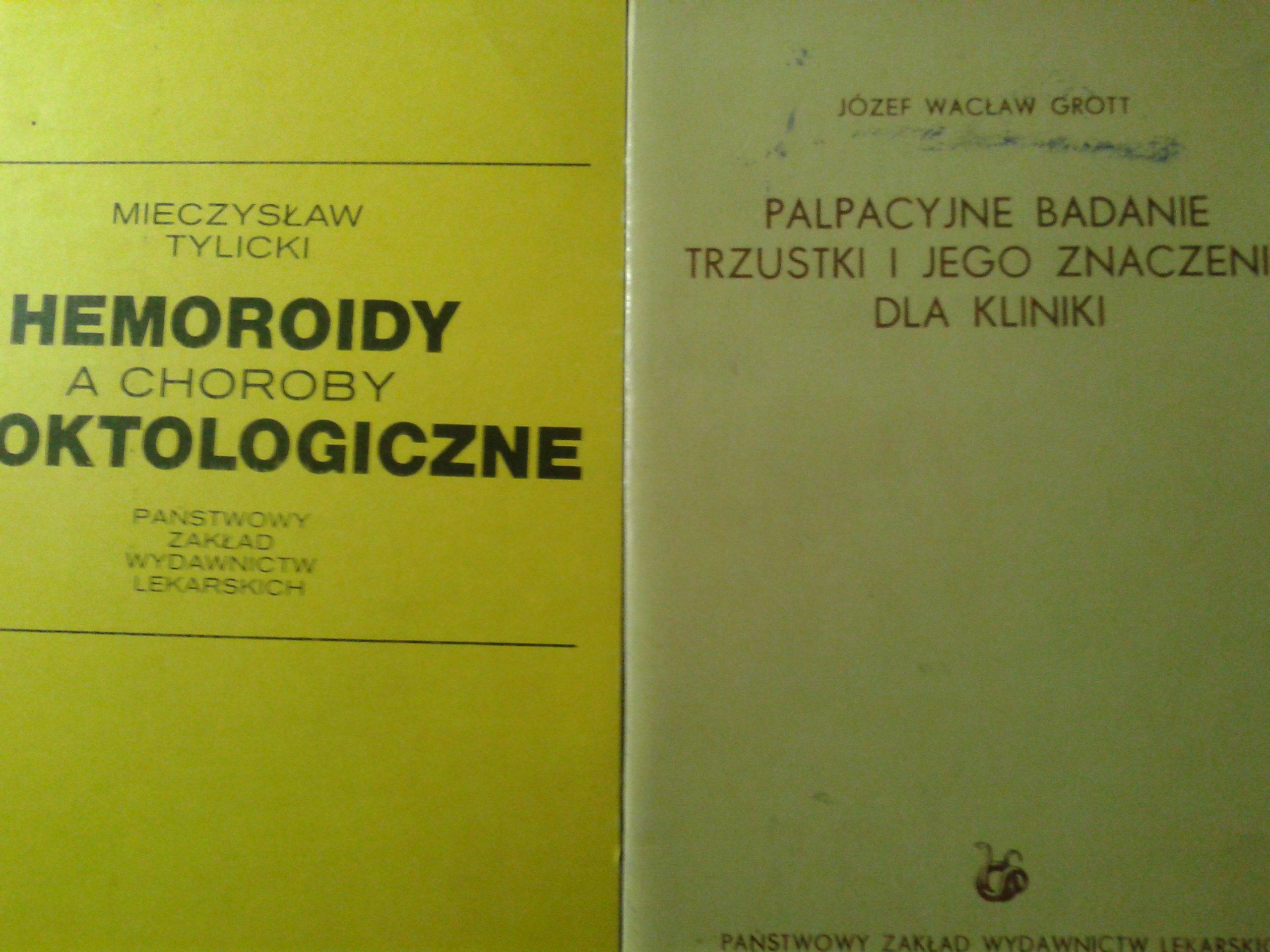 2X PALPACYJNE BADANIE TRZUSTKI/HEMOROIDY A CHOROBY