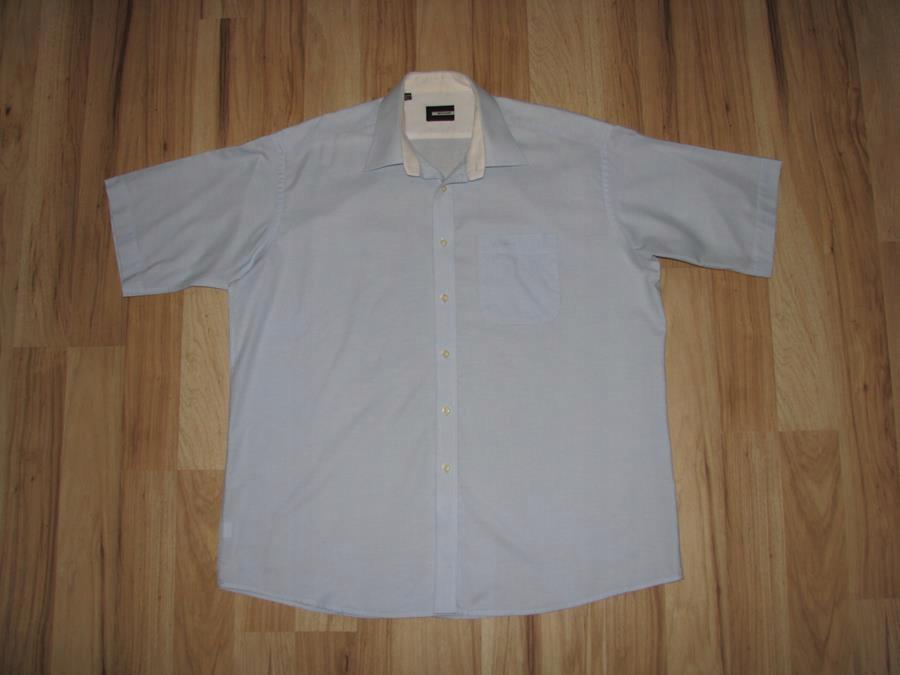 PIERRE CARDIN Koszula błękit z logo 3XL BDB