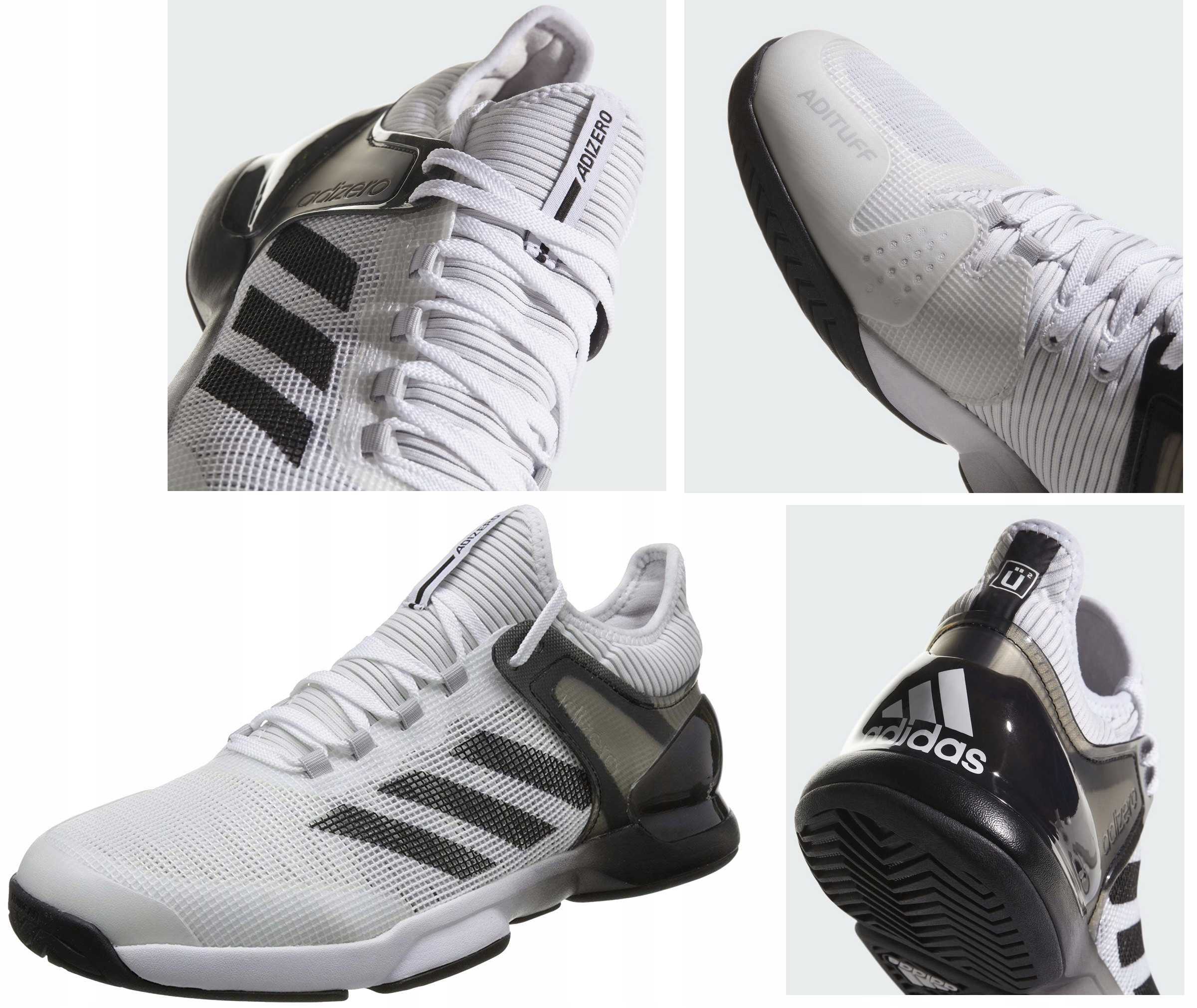 Adidas adiZero Ubersonic 2 buty tenisowe 43 13