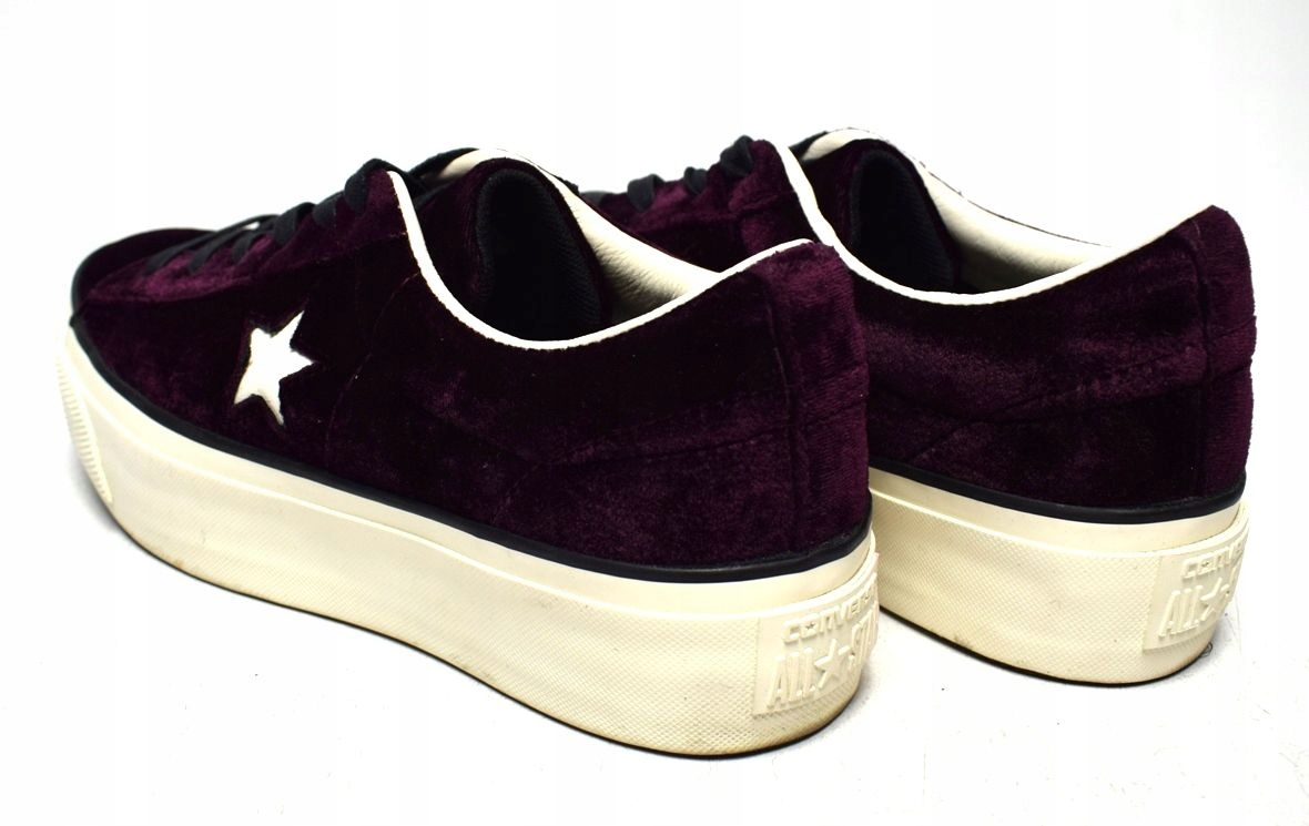 Converse one star platform ox velvet