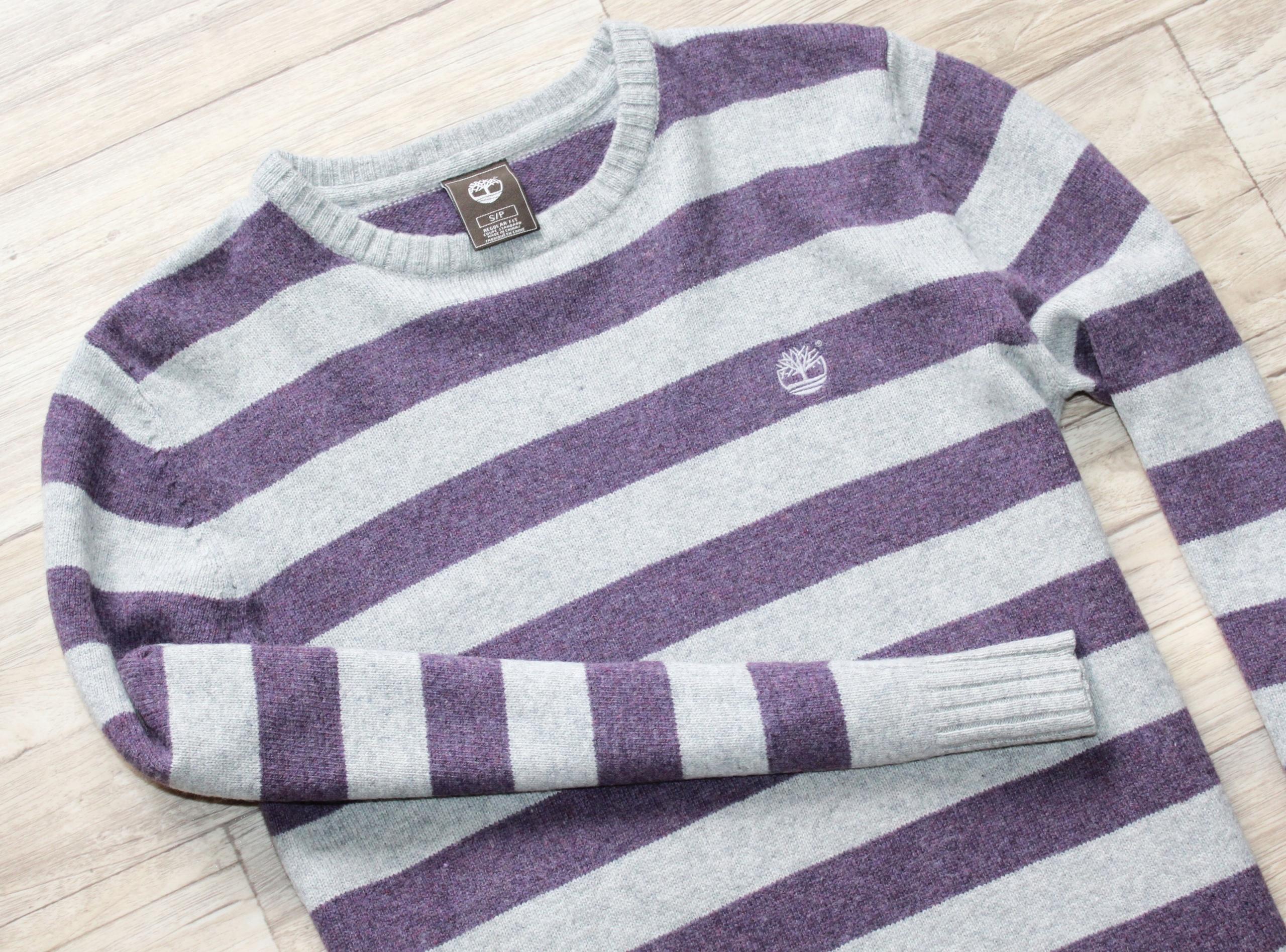 Sweter Timberland męski logowany bdb 100 % wełna S