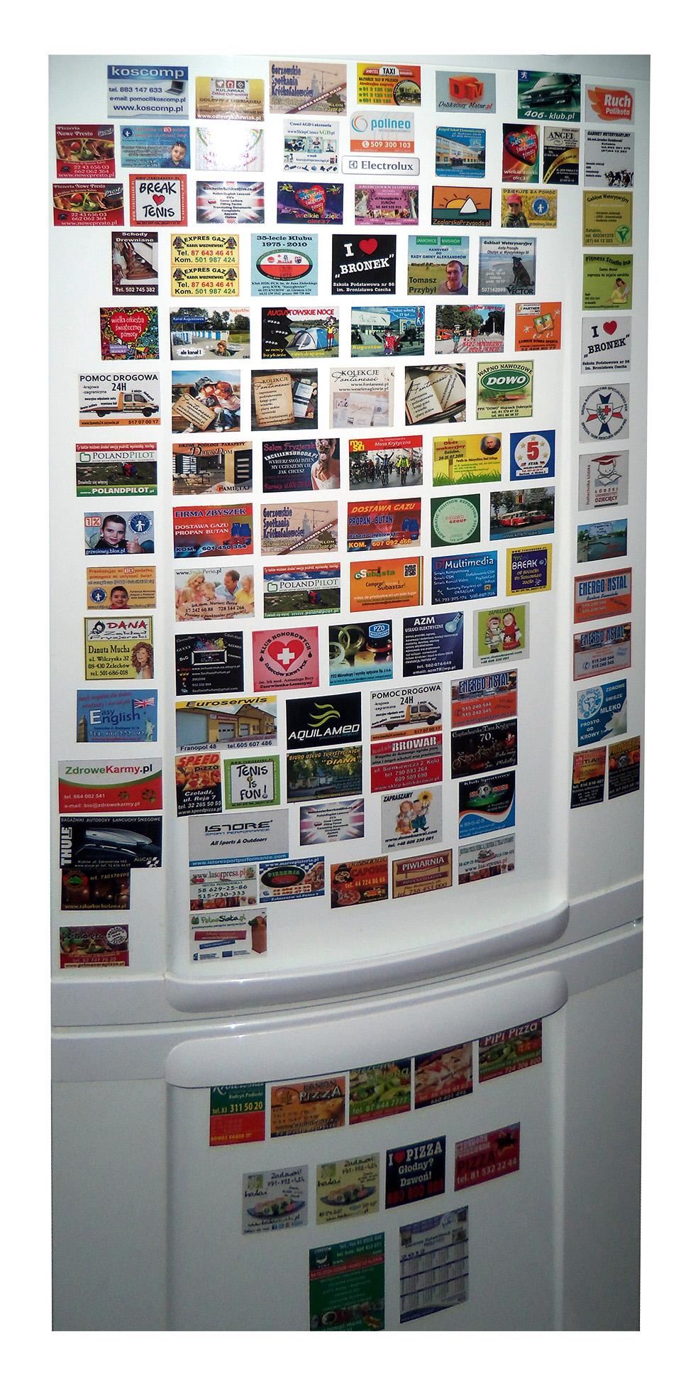 Magnesy reklamowe na lodówkę 1000 szt. 9x5 cm