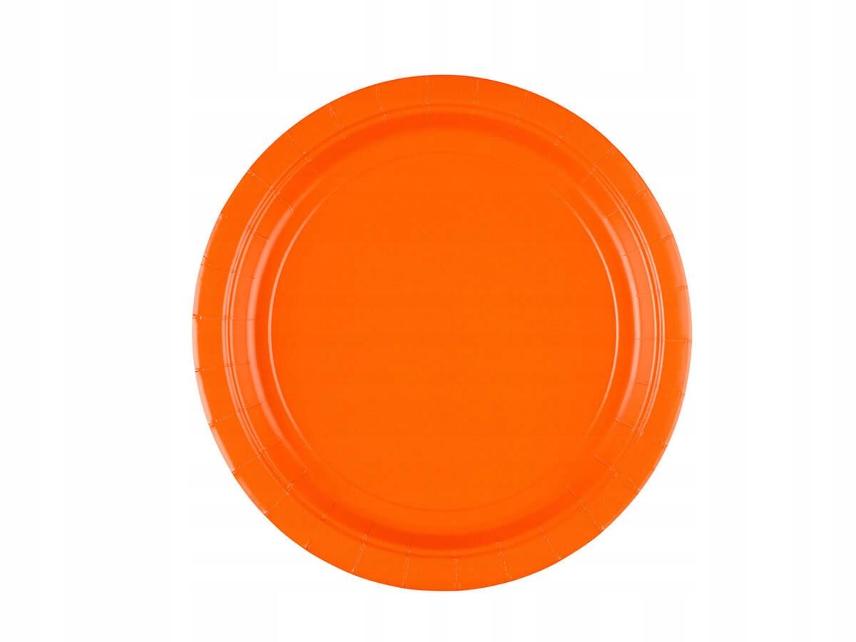 Talerzyki pomarańczowe - 18 cm - 20 szt.