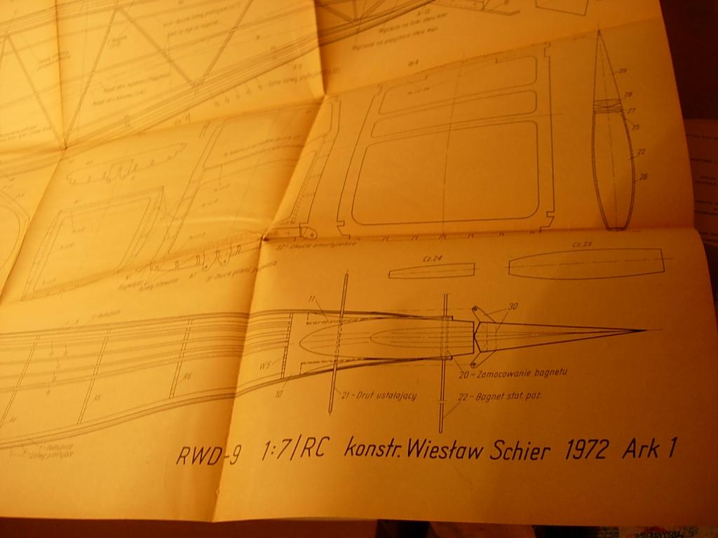 Plan budowy modelu samolotu RWD 9 skala 1:7