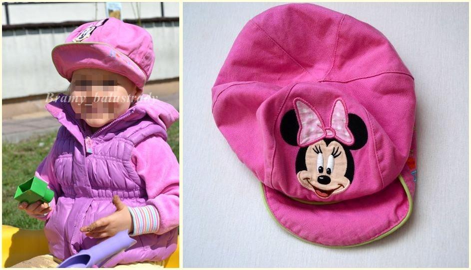 *Disney śliczna czapeczka kaszkiet Minnie 6-18 msc