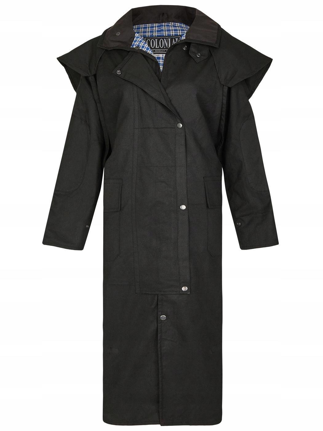 Płaszcz woskowany COUNTRY BUSSE czarny L 24H