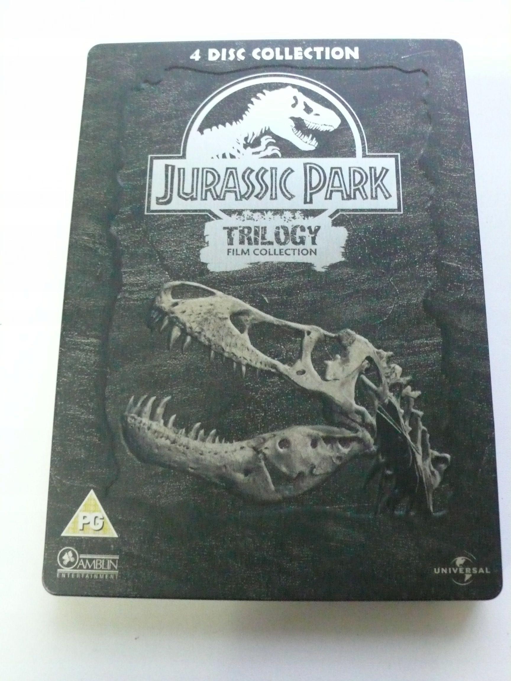 Jurassic park Trilogy 4DVD metal box S. Edition