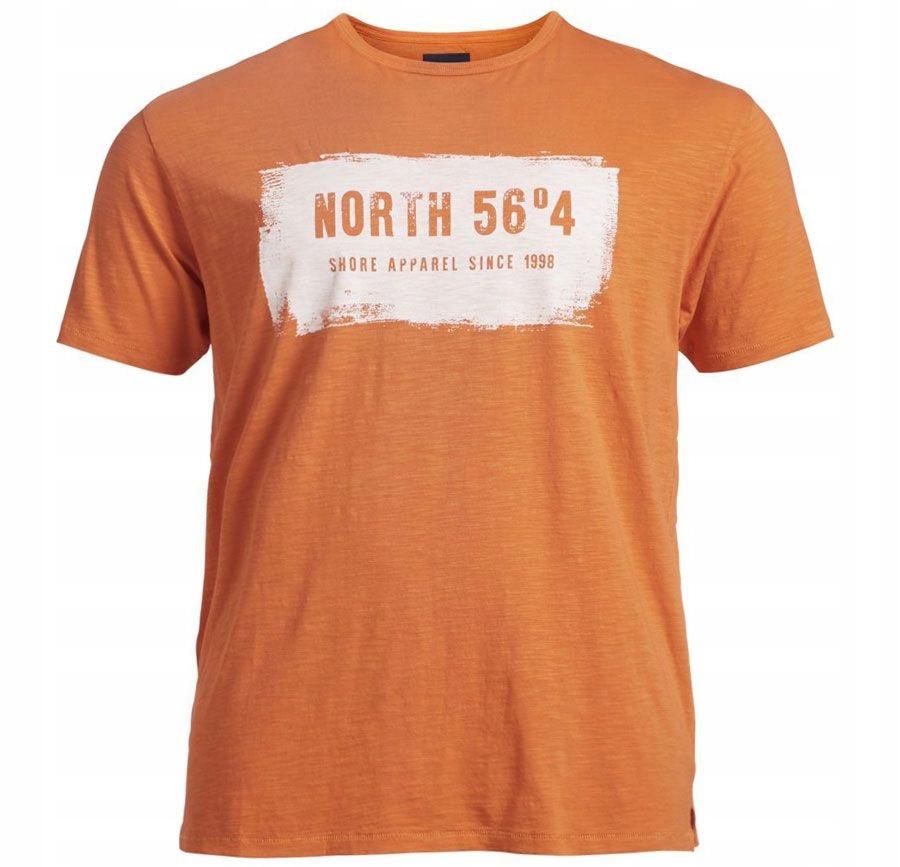 North 56 4 Duża Koszulka roz 8XL obw 190 Pamarańcz