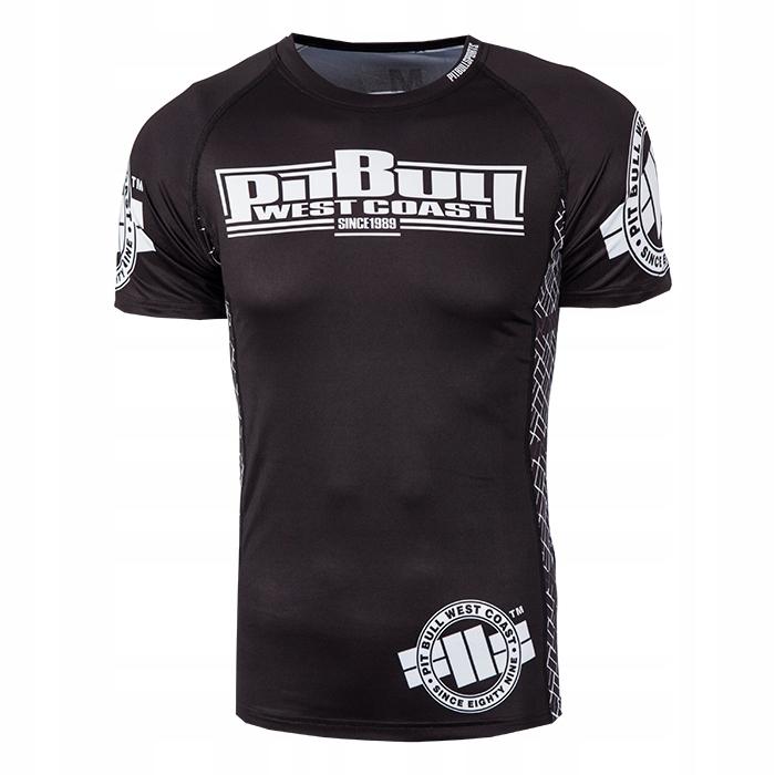 Pit Bull Rashguard Logo Krótki Rękaw Czarny L