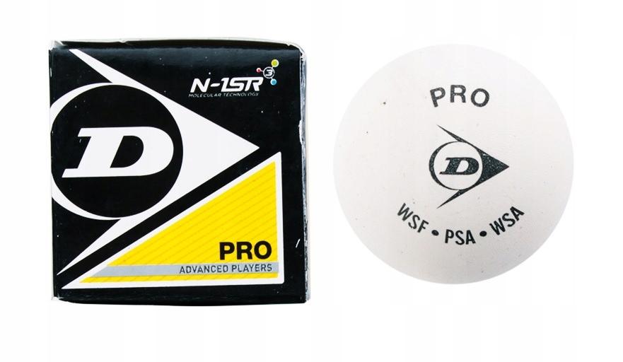 Piłka do squasha Dunlop Pro biała (kort szklany)