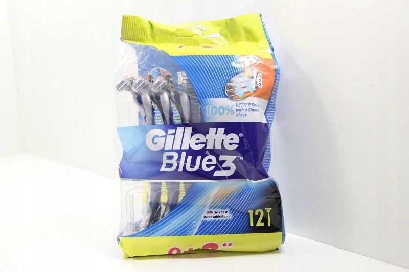 GILLETTE BLUE 3 MASZYNKA ZESTAW 12 SZT