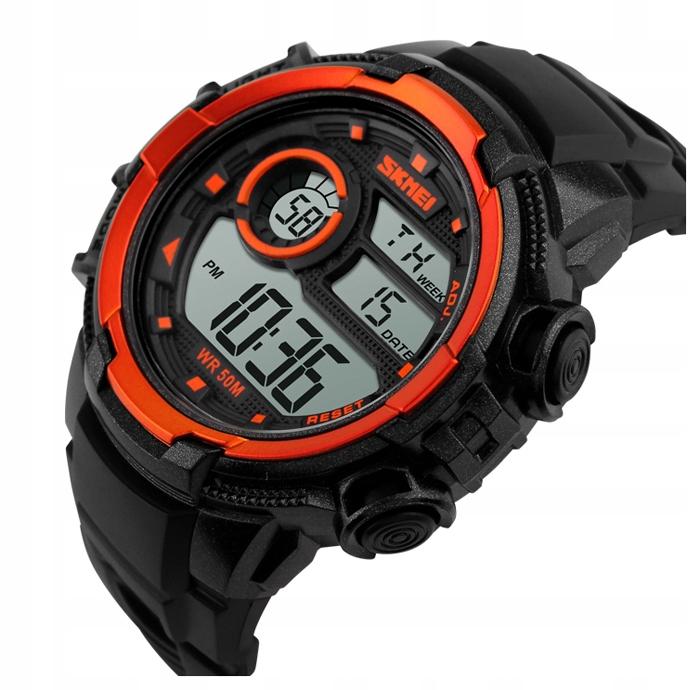 Zegarek męski - SKMEI - elektroniczny stoper data