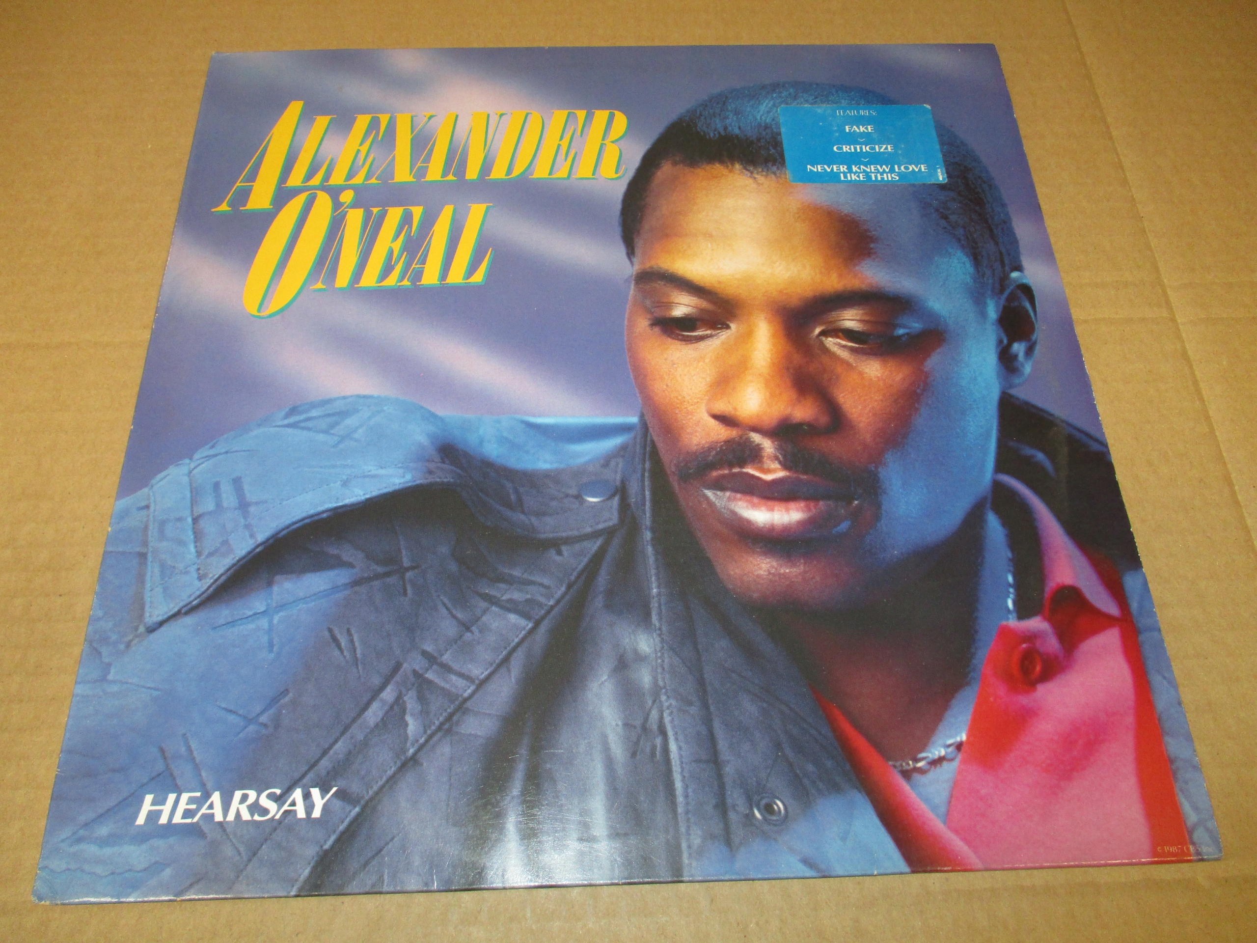 ALEXANDER O'NEAL HEARSAY LP 1987 UK