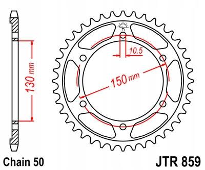 ZĘBATKA TYLNA JT 49-ZĘBÓW YZF 1000 1996-2001