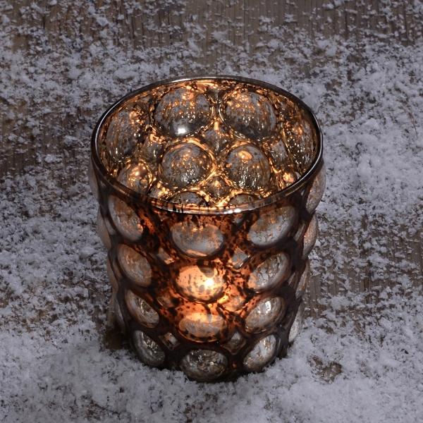 lampion świecznik szklany ALMI DECOR 9cm