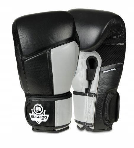 Rękawice bokserskie Bushido Muay Thai Skóra 14 oz